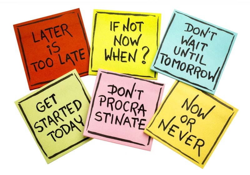 Make a decision stop procrastinating