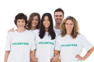 volunteering makes my heart subg